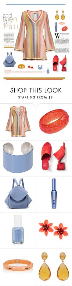"""""""and Then it Was Fall"""" by joannahdawn ❤ liked on Polyvore featuring Missoni Mare, Maison Margiela, Gap, Benefit, Essie, Mark Davis and Carousel Jewels"""