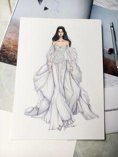 Galia Lahav Wedding dress #fashionsketch #fashiondrawing #fashionillustrator #fashionillustration #fashionart #art #artwork #instaart #wedding #bride