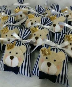 Baby Shower Gifts For Boys, Baby Boy Shower, Baby Gifts, Teddy Bear Birthday, Fidget Blankets, Bear Crafts, Angel Decor, Baby Shawer, Baby Puppies