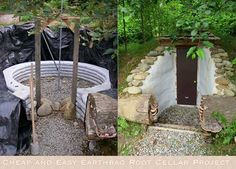 Cheap and Easy Earthbag Root Cellar Project