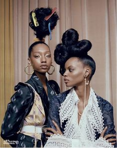 It's not that there's anything wrong with tiny studs or delicate braids. It's more that there is so much right with bold, outsize earrings and own-the-room hair. Nikki Nelms gets it. It's why she created five daring, out-of-the-box hair looks for Allure. Black Girls Hairstyles, Afro Hairstyles, Black Is Beautiful, Hair Inspo, Hair Inspiration, Hair Afro, Kinky Hair, Curly Hair Styles, Natural Hair Styles