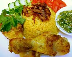 3 hungry tummies: khao Mok Gai ข้าวหมกไก่ Southern Yellow Chicken Rice