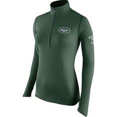 New York Jets Nike Women's Tailgate Element Half-Zip Performance Jacket - Green - $74.99