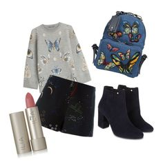 """""""School Look (Marjorie)"""" by prettyliarxs on Polyvore featuring Alexander McQueen, Valentino, Monsoon and Ilia"""