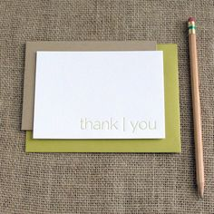 Letterpress 'Thank You'  Modern Note Cards (Pack of 8) by dahliapressshop, $13.50