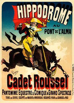 Hippodrome, Cadet Roussel. Jules Cheret