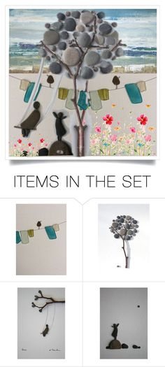 """""""Pebbles"""" by pepitarita ❤ liked on Polyvore featuring art"""