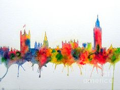Prints of this artwork Westminster And Big Ben Skyline by the artist Bill Holkham now available via this link.