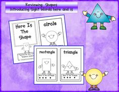 Cute shape book for beginning readers.