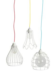 wire lampshade - White wire lampshade, White wire light shade, ... - Green with Envy