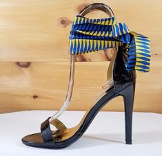 a4886af22427 Cape Scarf Wrap Strap Black Snake High Heel Shoes Summer Heels. Totally  Wicked Footwear