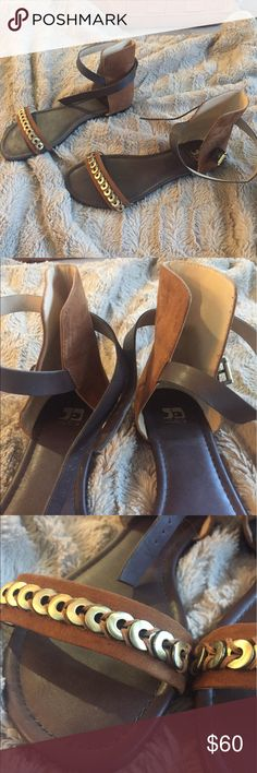 Joes Jeans sandals Perfect condition. Only sign of wear is on soles (pictured) smoke free home Joes Jeans Shoes Sandals