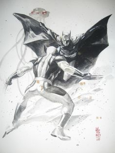 Wolverine versus Batman by J.G. Jones