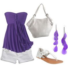 """Purple & white."" by christinamarie0824 on Polyvore"