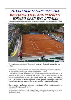 Iniziato il Torneo Open BNL d'Italia al C.T. Pescara - Pescara