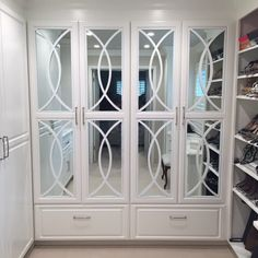 How about a glamorous closet of your own? That's what Alyssa Depalma did. Custom O'verlays on doors is easy to do and affordable too.