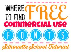 How to Find Free Commercial Fonts: Silhouette Tutorial #Silhouette #Silhouetteideas #silhouetteprojects #silhouettetutorials #free #fonts #tutorial