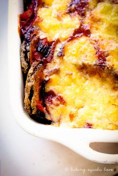 Cheesy Eggplant Parmigiana Bake but made it lowfat and healthier. Even a little healthier than their healthy version!