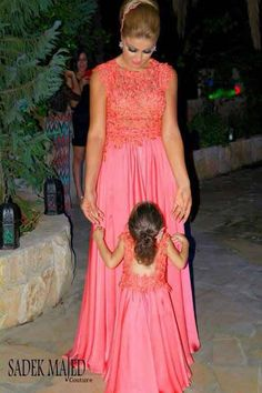 Charming mother daughter matching dress