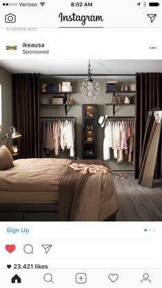 DIY room divider closet IKEA