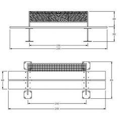 Garden Bench Design 2D dwg
