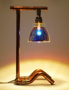copper desk lamp copper table lamp steam punk by marzashop on etsy