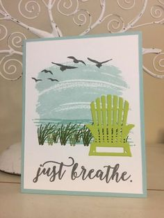 Stampin' Up! Colorful Seasons - with work of art for sky!!