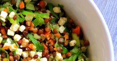 Dieser Linsensalat  ist gesund, voller Ballaststoffe, lecker und super schnell zubereitet.  Was will man mehr?  Als Inspiration, mal was ...