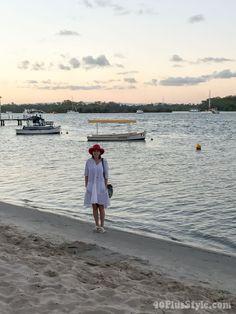 White cotton dress | 40plusstyle.com