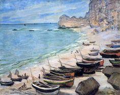 Claude Monet. Barcas en la playa