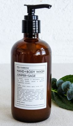 Fig and Yarrow Juniper and Sage Hand and Body Wash