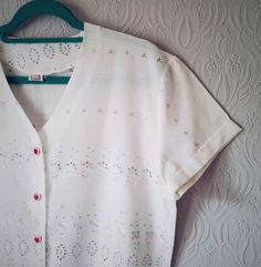 1850037a32 Vintage White Blouse Outfitters Pastel Lace Cropped Grunge Top ASOS Topshop  VTG