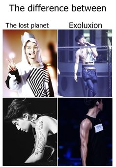 difference between tlp & exoluxion Exo Lockscreen, Exo Memes, I Don T Know, Fangirl, Tumblr, Kpop, People, Movie Posters, Beautiful