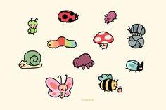 Mini Drawings, Cute Little Drawings, Cute Animal Drawings, Doodle Drawings, Doodle Art, Drawing Sketches, Frog Drawing, Pretty Art, Cute Art