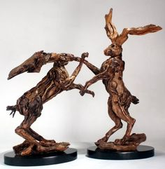 driftwood sculpture by James Doran Webb, lovely