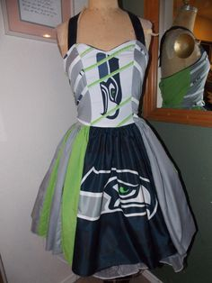 Seattle Seahawks Pin Up Dress custom made to by SweetHeartClothing
