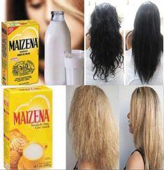Maizena para os cabelos a nova moda mundial!