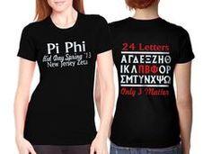 Sorority Bid Day, Sorority Outfits, Pi Beta Phi, Custom Screen Printing, Custom Greek Apparel, Greek Clothing, Fraternity, Tee Shirts, Sweatshirts