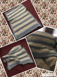 Winter throw I crocheted In super chunky .