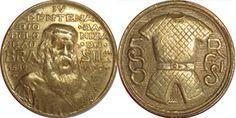 Moeda brasileira de 500 réis alusiva ao IV Centenário da Colonização do Brasil 1932 Da chamada série Vicentina