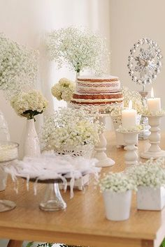 Look at all that baby's breath! First Communion Decorations, First Communion Party, Baptism Decorations, Baptism Party, First Holy Communion, Baby Party, Baby Shower Parties, Wedding Decorations, Baby Girl Baptism
