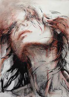 Art Sketches, Art Drawings, Images D'art, L'art Du Portrait, Face Art, Figurative Art, Art Pictures, Creative Art, Painting & Drawing