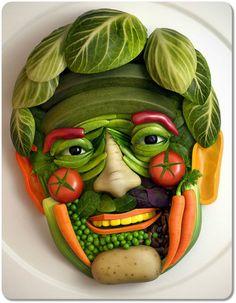 Art Design Using Vegetables. creepy but awesome. #foodart