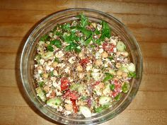 Kasha Mediterranean: A Smokey, Slovenian-inspired, Gluten-free Salad Famous Immigrants, Mediterranean Pasta Salads, American Kitchen, Healthy Recipes, Free Recipes, Potato Salad, Gluten Free, Dishes, Roots