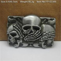 Retail Good Plating Skull Belt Buckle Cowboy Cowgirl Cool Skeleton Skull Head Metal Buckles Apparel Accessories Suit 4cm Pu Belt 2019 Official Arts,crafts & Sewing
