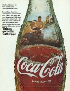 The great outdoor life goes even greater with ice-cold Coca-Cola, 1968