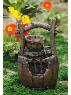 broken barrel water fountain