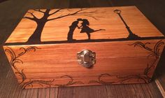 First kiss box by WoodburnedBeauty on Etsy