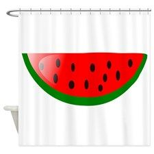 Watermelon Slice Shower Curtain for