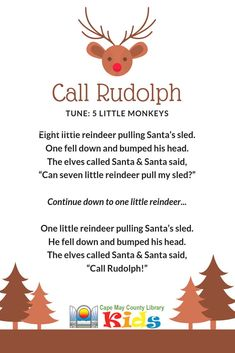 A great rhyme for storytime! Perfect for winter, snow, and holiday themes! A great rhyme for storytime! Preschool Christmas Songs, Christmas Poems, Christmas Program, Christmas Concert, Preschool Music, Christmas Activities, Kids Christmas, Preschool Activities, Fingerplays For Preschoolers